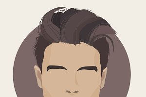 Pampadour haircut.