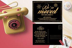 Gold Foil Moving Announcements