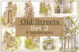 Set of Old Street landscapes