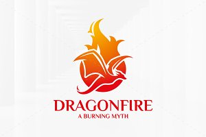 Dragon Fire Logo Template