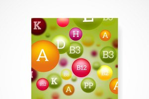 Medical poster background template