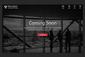 Mountpart – Coming Soon PSD Template