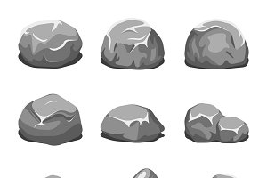 Stones and rocks cartoon vector