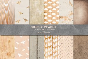 Simply Peachy Gold & Watercolors
