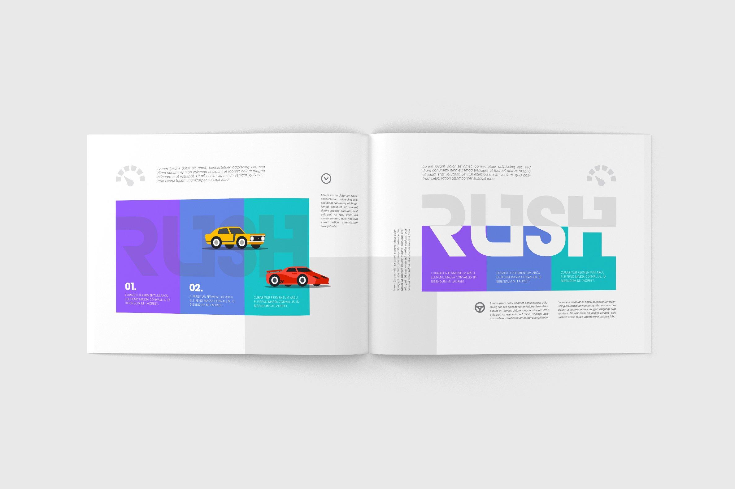 us letter landscape magazine mock up product mockups creative market