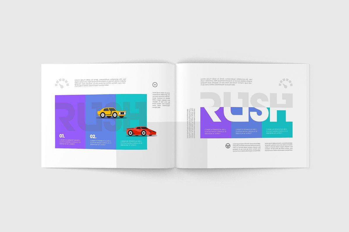 Us Letter Landscape Magazine Mock Up Creative Print Mockups