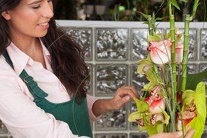 Florist working