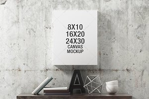 Canvas Mockup Industrial - Portrait