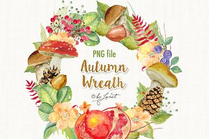 Autumn Wreath Watercolor