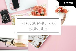Soft Pink Workspace Photo Bundle