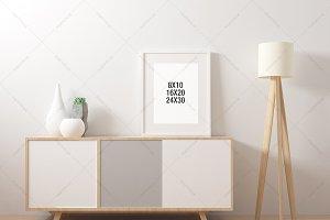 Poster Frame Mockup Industrial