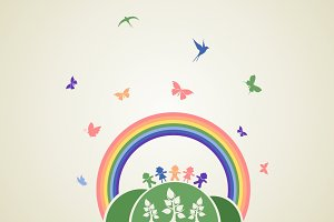 Children rainbow