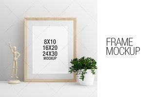 Wooden Frame Mockup Portrait