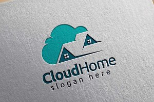 Cloud home logo, storage tech logo