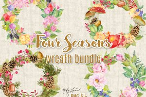 Four Seasons - bundle wreath