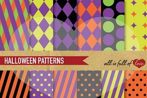 Halloween Patterns Digital Paper