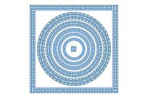 blue Greek borders. vector