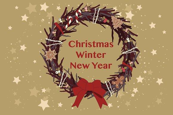 Christmas. Winter.New Year.Bundle. - Illustrations