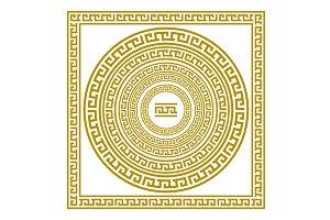 gold Greek borders. vector