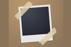 Taped Retro Style Photo Frame