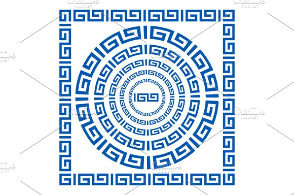 blue Greek borders. vector - Graphics