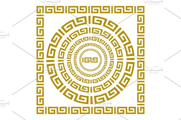 gold Greek borders. vector - Graphics