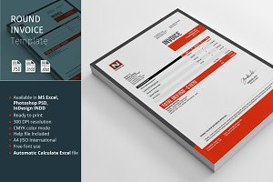 Round Invoice Template