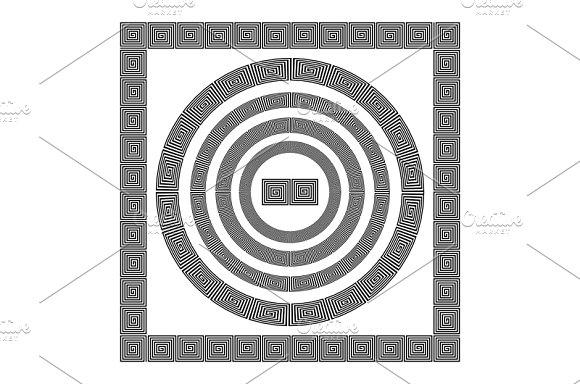 black Greek borders. vector - Graphics