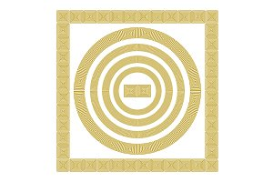 gold Greek borders. vector