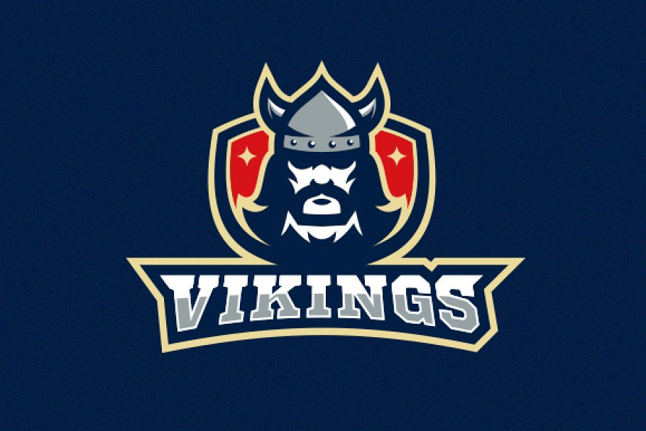 5fbb105e Vikings Logo and Mascot ~ Logo Templates ~ Creative Market