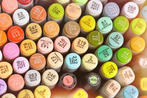 Photo of markers set