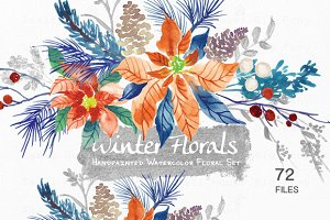 Winter Floral- Watercolor Floral Set