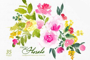 Fresh Florals - Watercolor Floral S