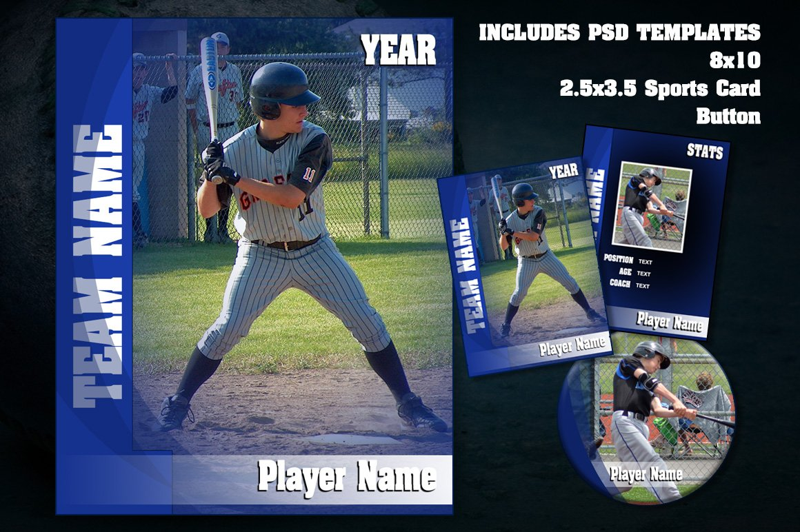 Sports V3 Photoshop Template Set Card Templates Creative Market