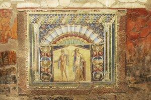 Mural at Hercaluneum