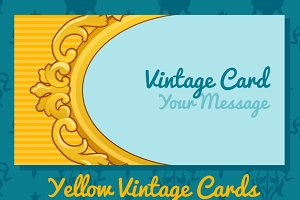 Two golden vintage business cards