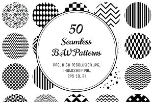50 Geometric B&W Patterns.