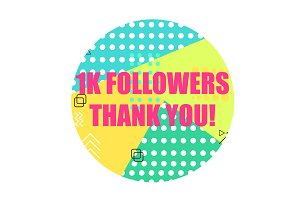 1000 Followers Thank You Banner