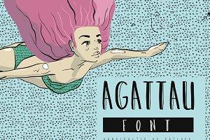 Agattau font + pattern + borders