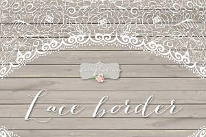Lace Border Rustic Photos Graphics Fonts Themes Templates