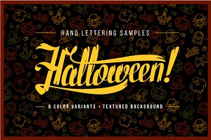 Halloween Hand Lettering Samples