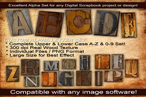 Wood Letter Press Custom Alpha Set