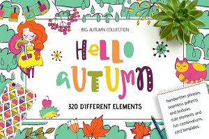 Hello Autumn! HandDrawn Elements Set