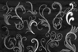 Pencil Drawn Floral PNG(Transparent)