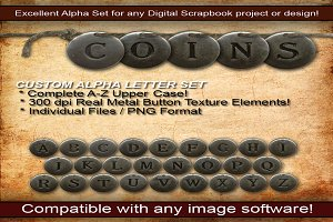 Metal Coin Custom Alpha Letter Set