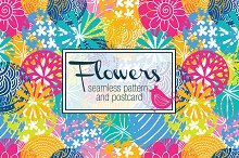 Flowers motif. Goodbye, summer!