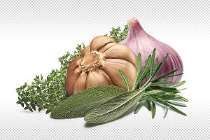 Garlic with herbs