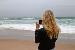 Capturing beauty at the beach