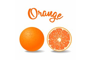 Solid and ripe orange