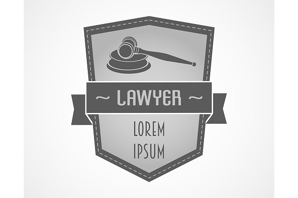 Lawyer logo with gavel
